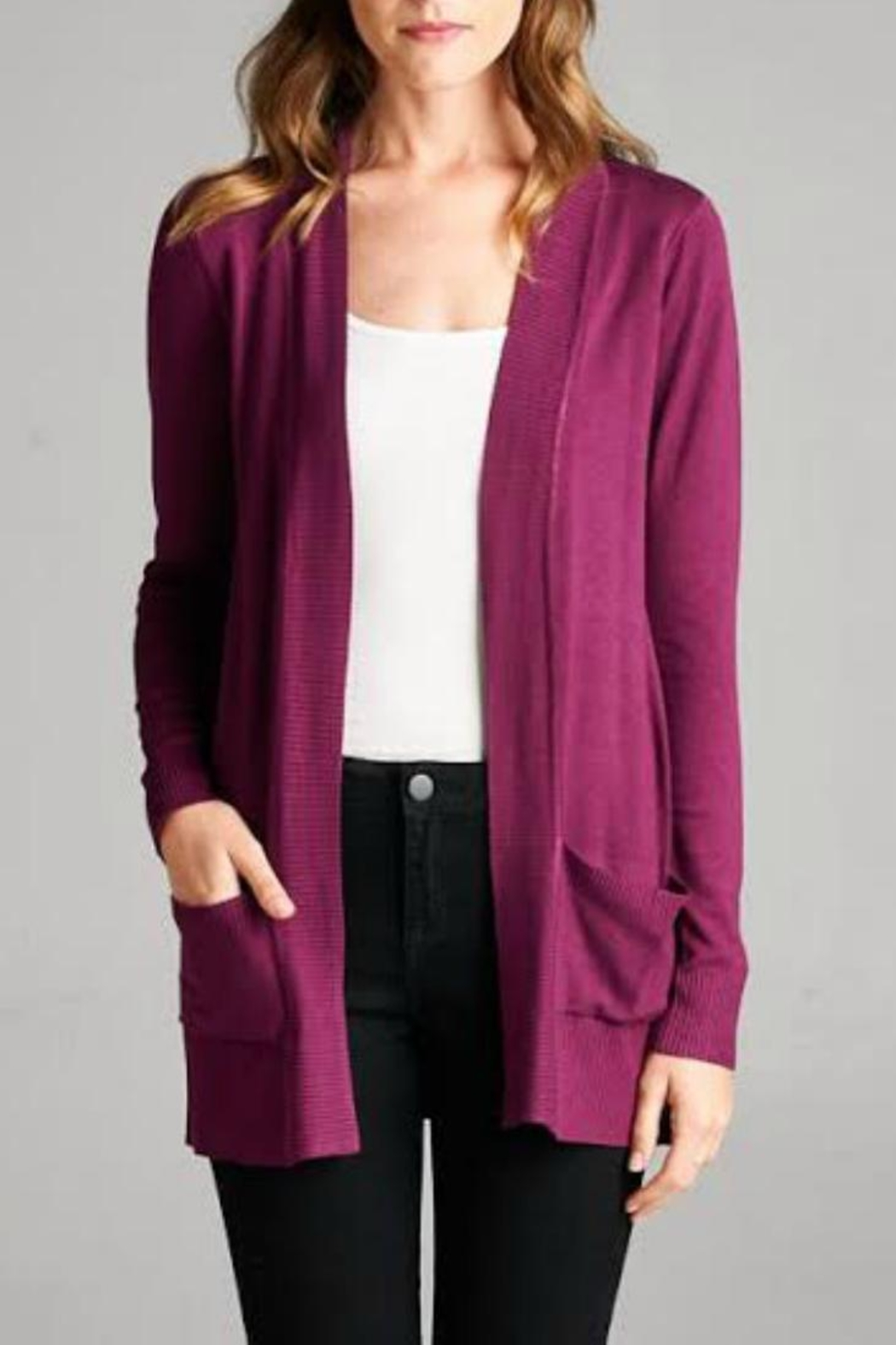 Staccato Simple Pocket Cardigan - Main Image