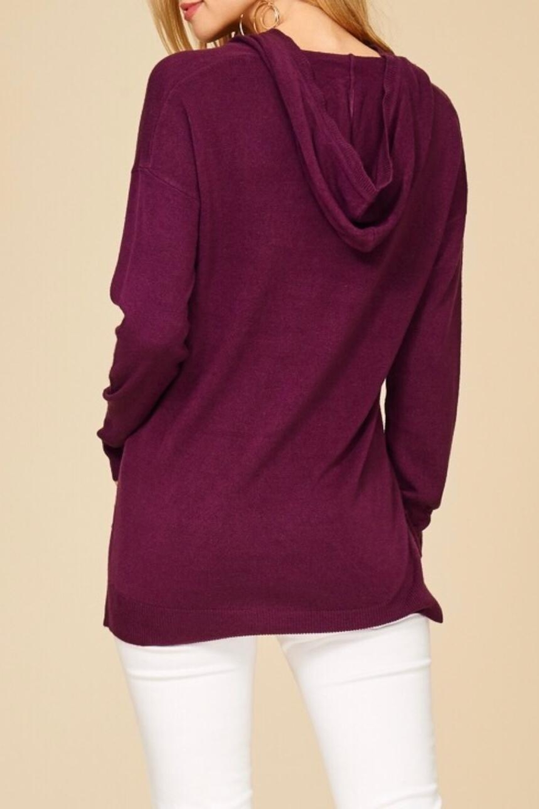 Staccato Soft Hooded Sweater - Side Cropped Image