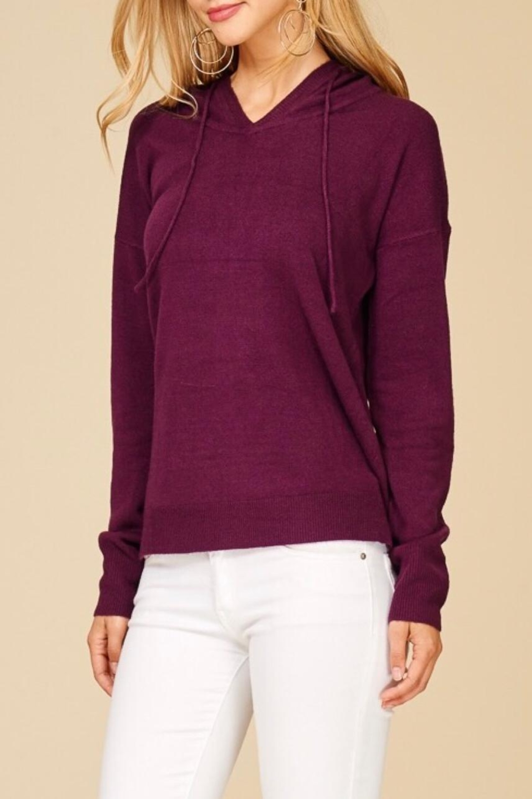 Staccato Soft Hooded Sweater - Front Full Image