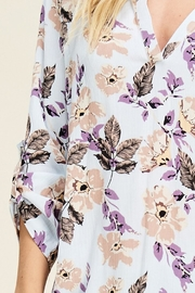Staccato Split-Neck Floral Top - Other