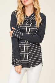 Staccato Striped Cowl Neck - Front full body