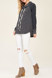 Staccato Striped Cowl Neck - Front cropped