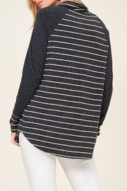 Staccato Striped Cowl Neck - Other
