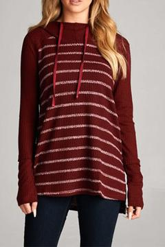 Shoptiques Product: Striped Knit Hoodie