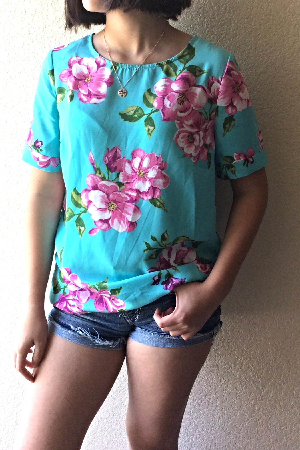 Staccato Summer Floral Blouse - Main Image