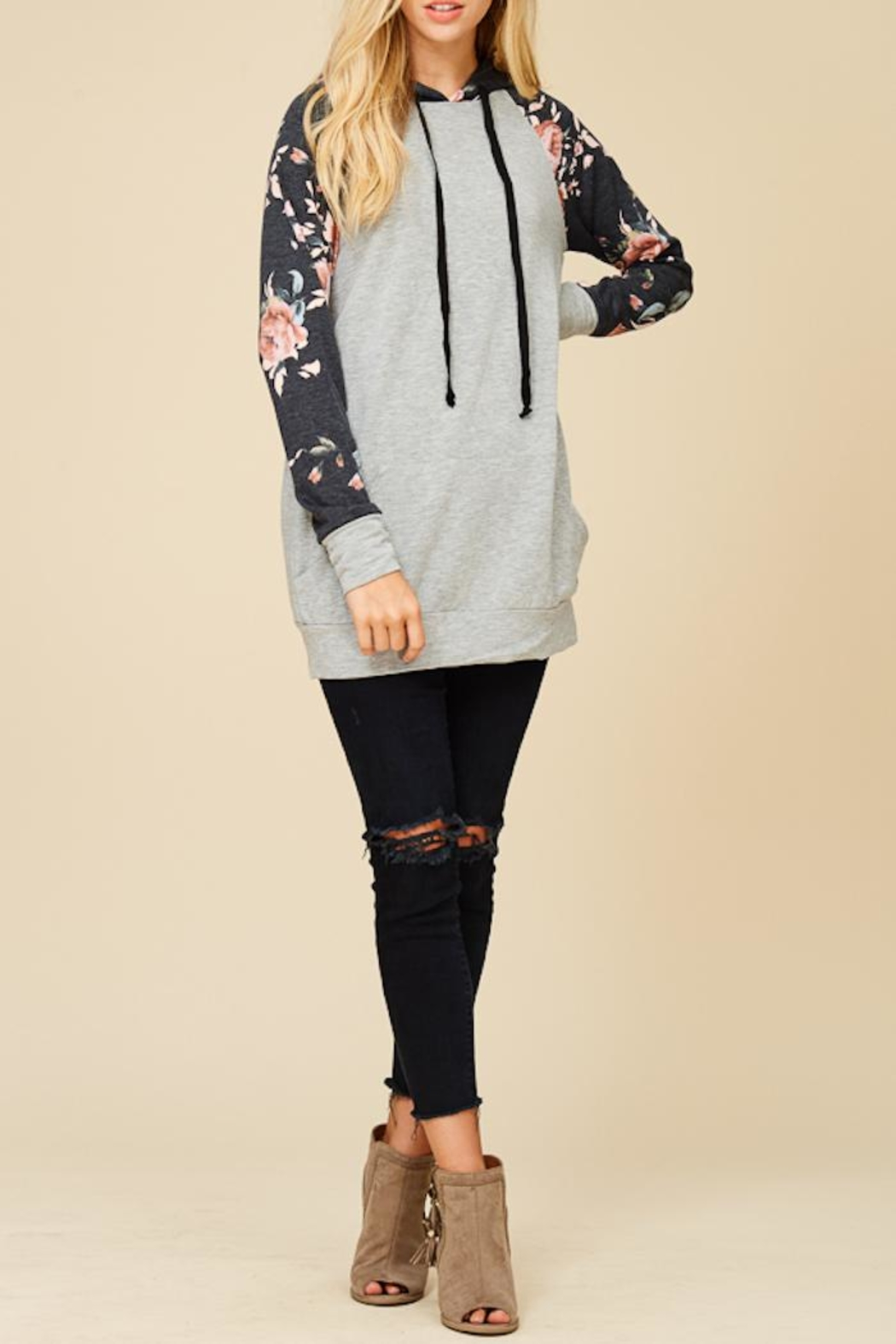 Staccato Summer Garden Hoodie - Front Cropped Image