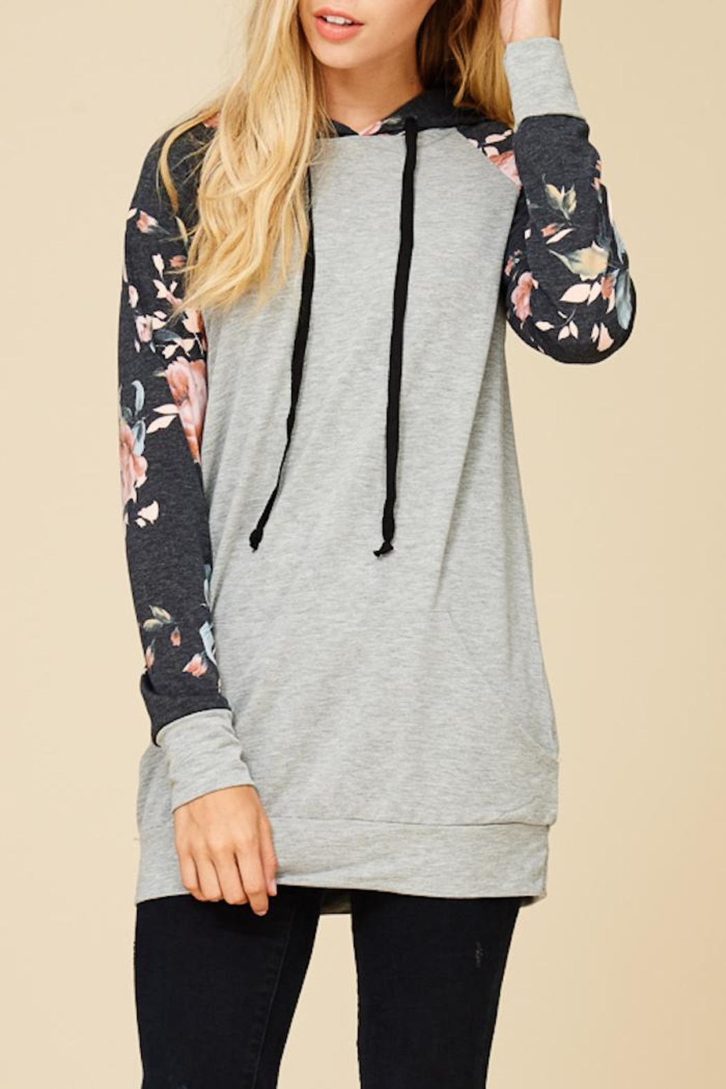 Staccato Summer Garden Hoodie - Back Cropped Image