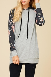 Staccato Summer Garden Hoodie - Back cropped
