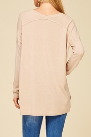 Staccato Taupe V-Neck Sweater - Back cropped