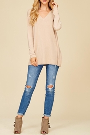 Staccato Taupe V-Neck Sweater - Other