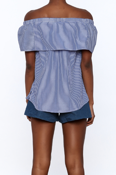 Staccato Blue Pinstripe Samantha Top - Alternate List Image