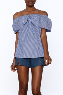 Staccato Blue Pinstripe Samantha Top - Product List Image