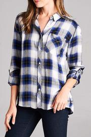 Staccato The Zoey Plaid Top - Front full body