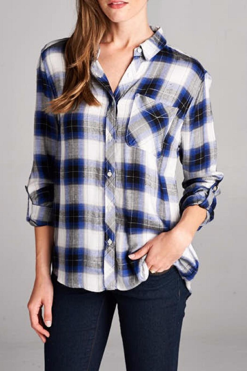 Staccato The Zoey Plaid Top - Side Cropped Image