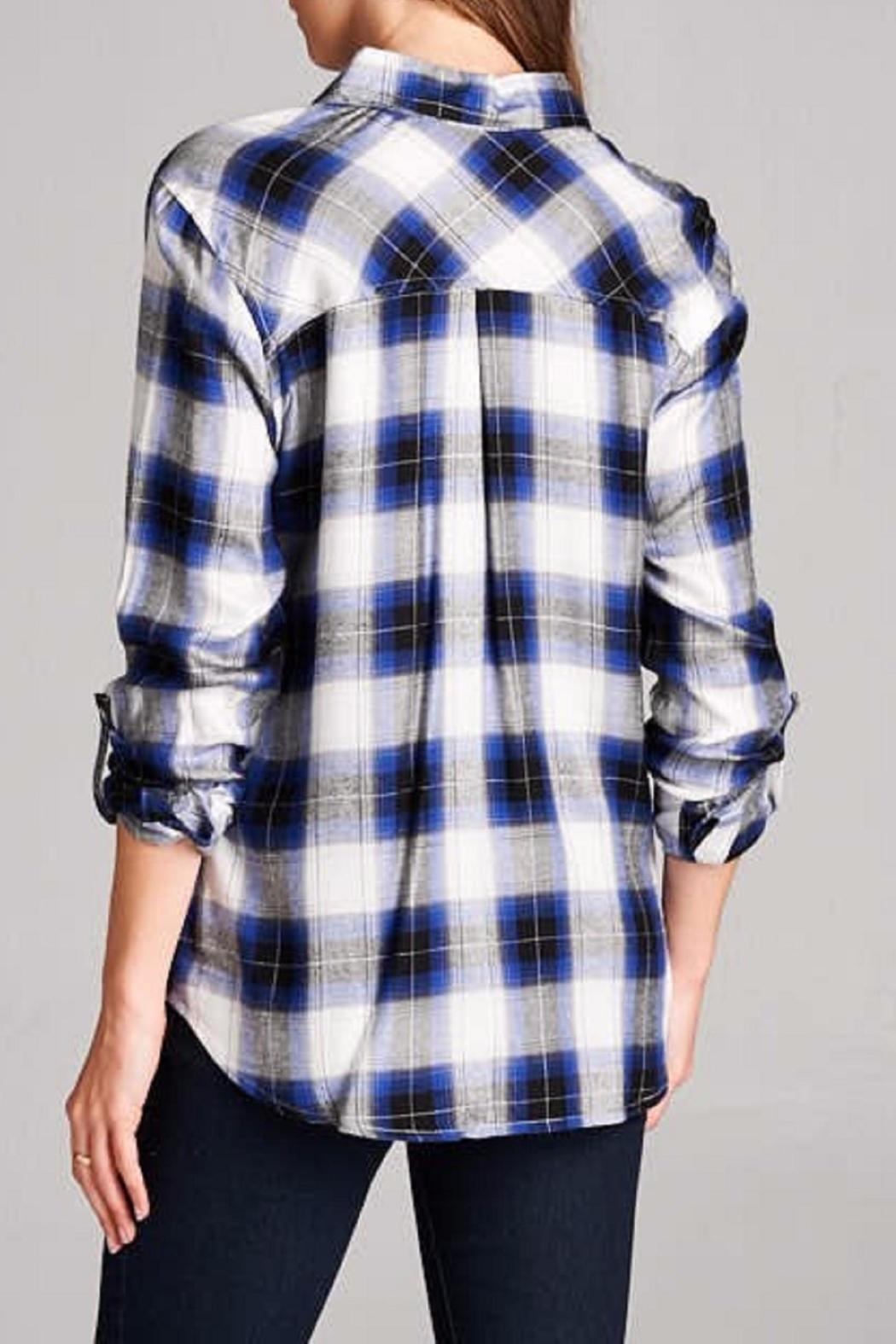 Staccato The Zoey Plaid Top - Back Cropped Image