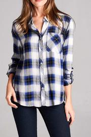 Staccato The Zoey Plaid Top - Front cropped