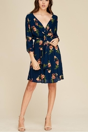 Staccato Tie Front Dress - Front cropped