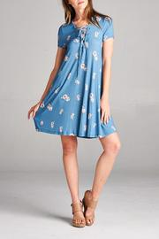 Staccato Tie Up Floral Dress - Product Mini Image