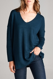 Staccato V Neck Teal Sweater - Product Mini Image