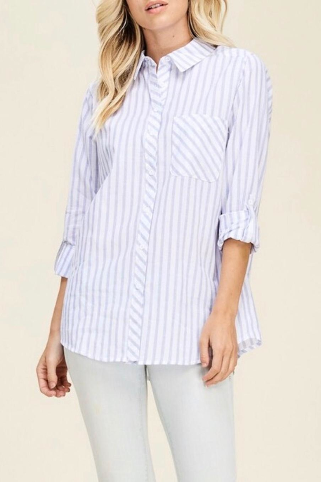 Staccato Vertical Striped Shirt - Front Full Image