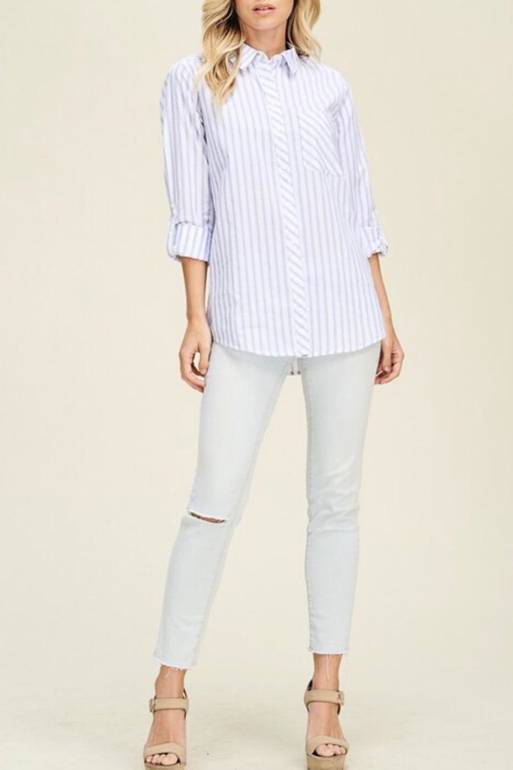 Staccato Vertical Striped Shirt - Main Image
