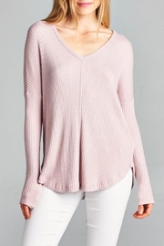 Staccato Waffle Knit Top - Product Mini Image