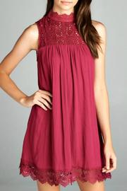 Staccato Wine Holiday Dress - Product Mini Image