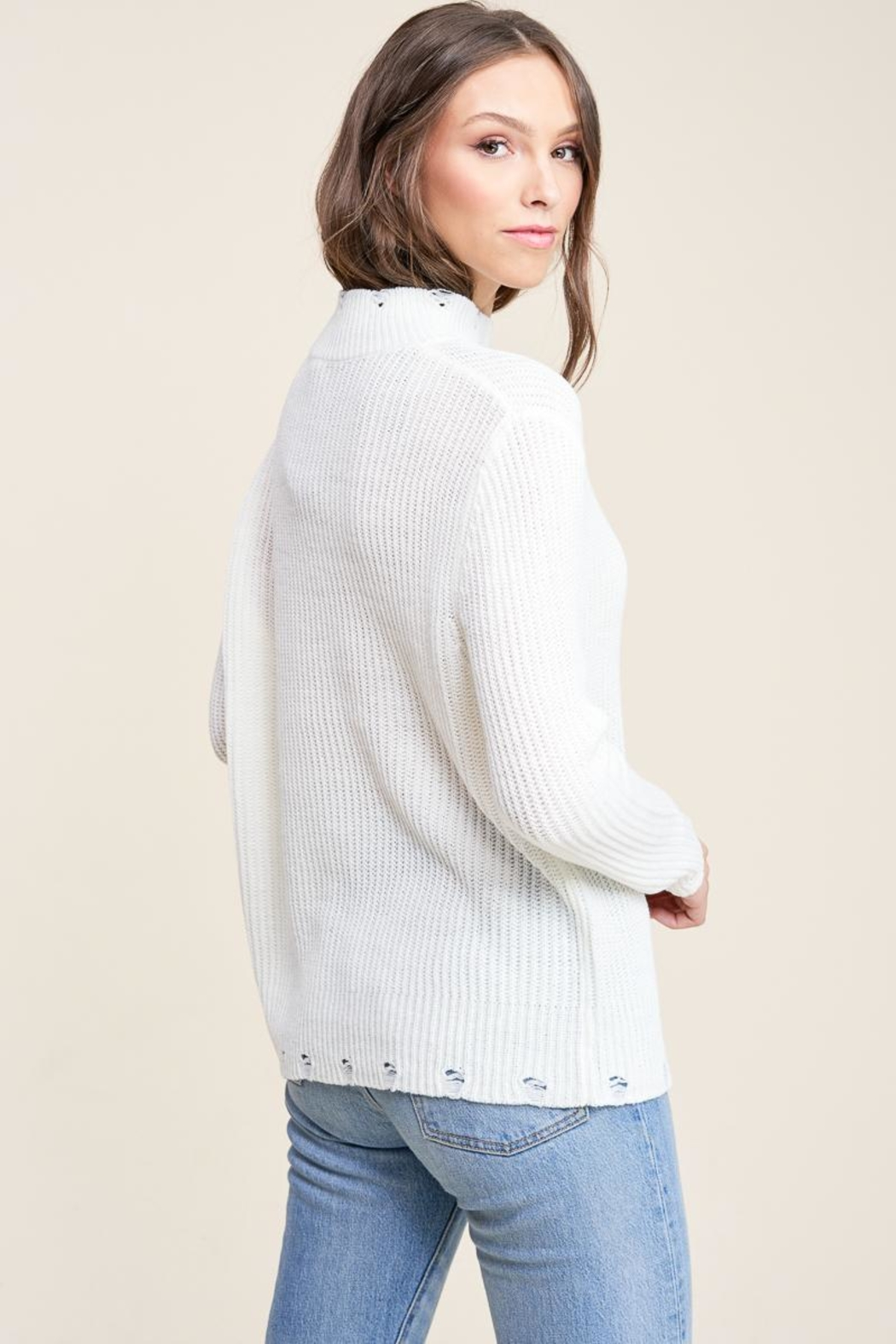 Staccato Winter White Sweater - Back Cropped Image