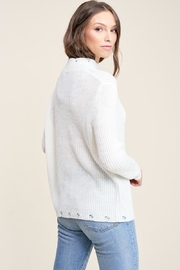 Staccato Winter White Sweater - Back cropped