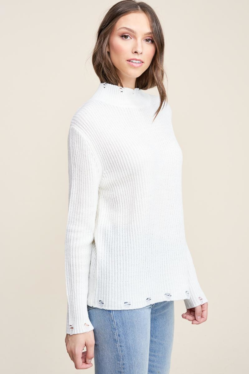 Staccato Winter White Sweater - Side Cropped Image