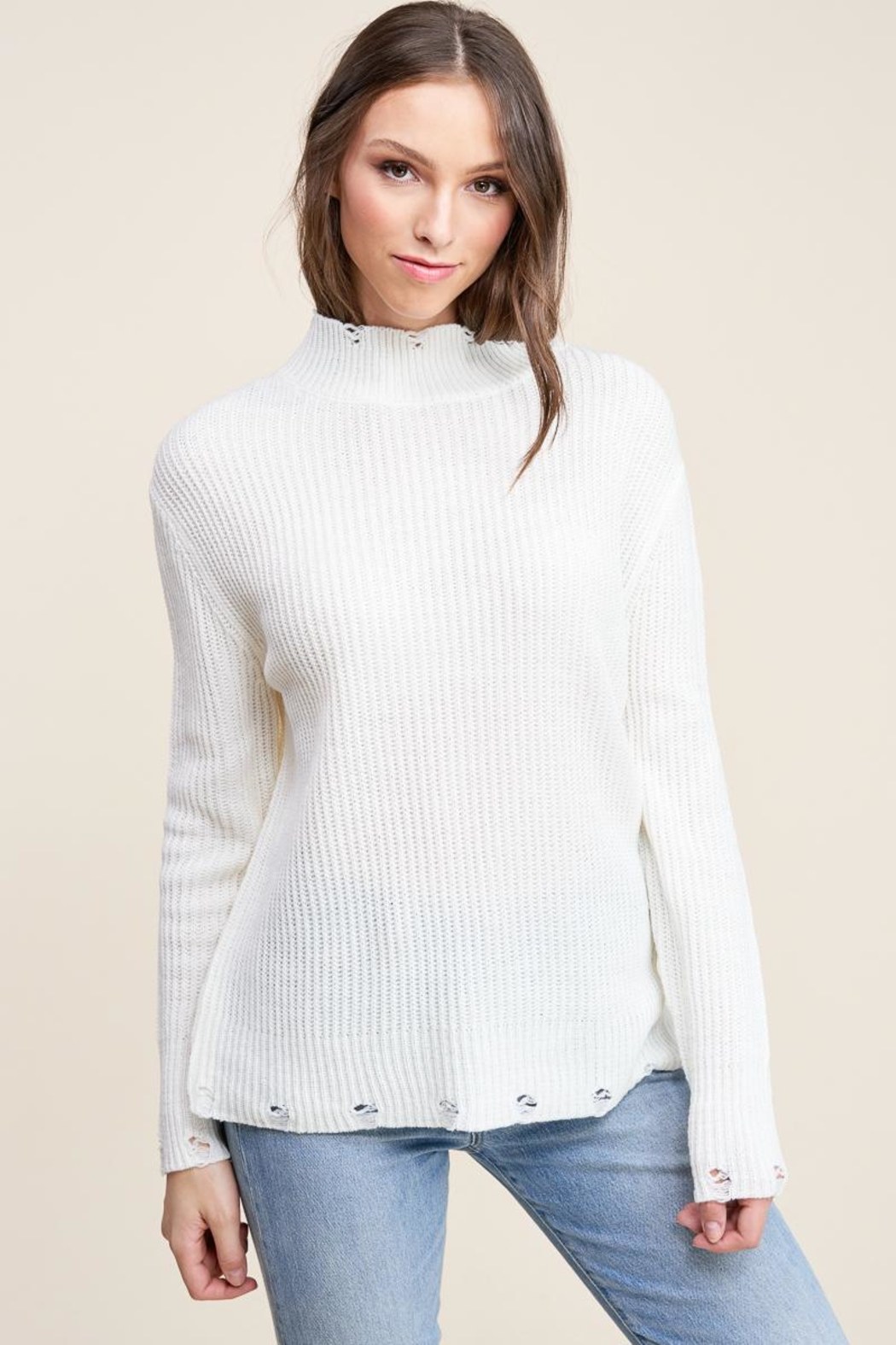 Staccato Winter White Sweater - Front Full Image