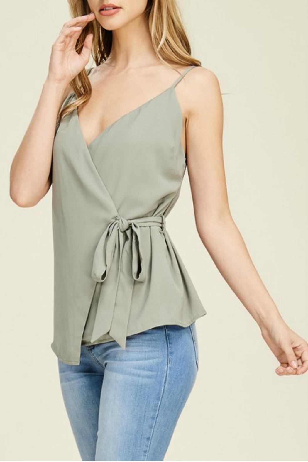 Staccato Wrap Cami Blouse - Main Image