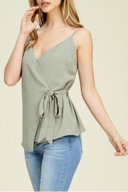 Staccato Wrap Cami Blouse - Front cropped