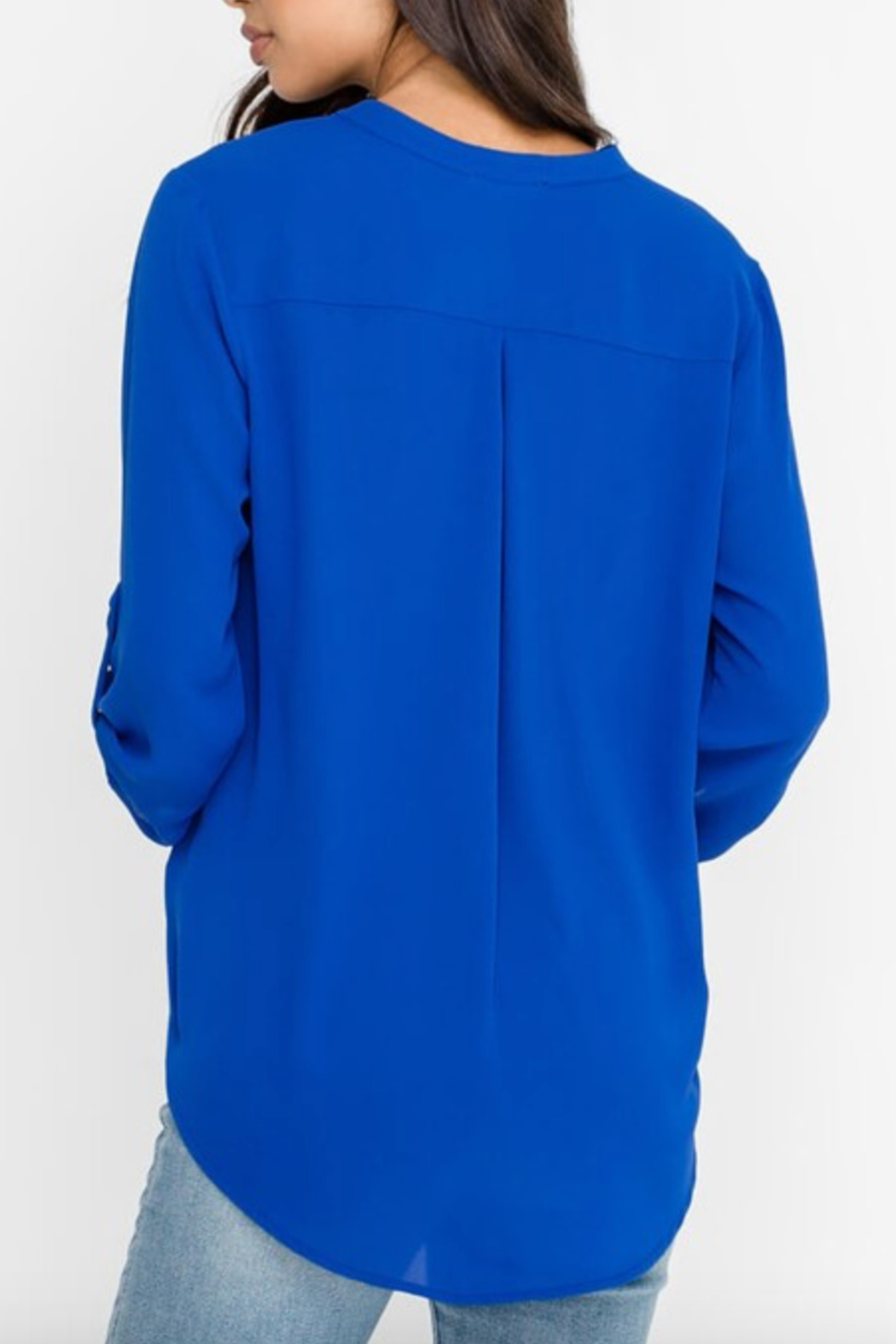 Lush Clothing  Stacey V-Neck Tunic Top - Front Full Image
