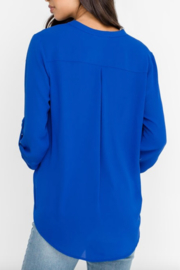 Lush Clothing  Stacey V-Neck Tunic Top - Front full body