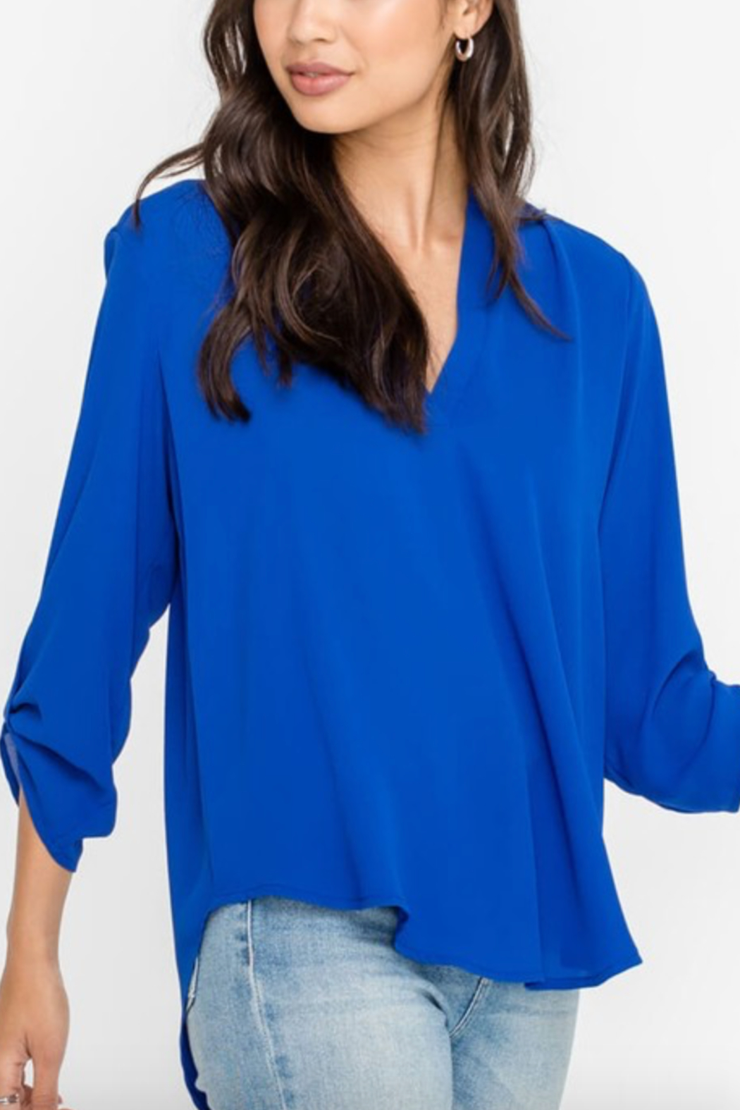 Lush Clothing  Stacey V-Neck Tunic Top - Front Cropped Image