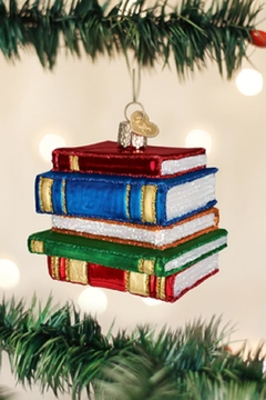 Old World Christmas Stack Of Books - Alternate List Image