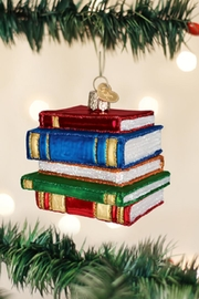 Old World Christmas Stack Of Books - Product Mini Image