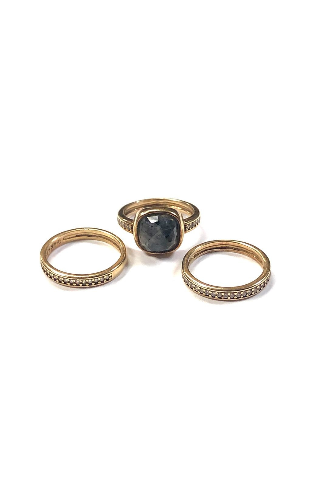 Marcia Moran Stackable Gemstone Rings - Front Cropped Image