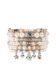 Riah Fashion Stackable-Pearl Charm Bracelet - Product Mini Image