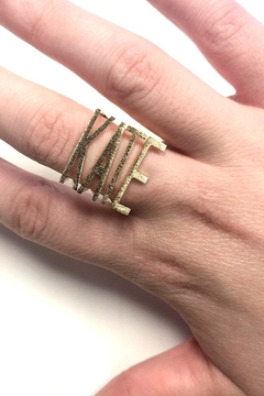 Shoptiques Product: Stackable-Sideways Initial Rings