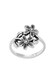 Tiger Mountain Stacked Flower Ring - Product Mini Image