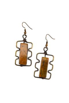 Anju Handcrafted Artisan Jewelry Stacking Rectangles Earring - Alternate List Image