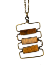 Anju Handcrafted Artisan Jewelry Stacking Rectangles Necklace - Product Mini Image