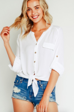 Olivaceous Stacy Button Blouse - Product List Image