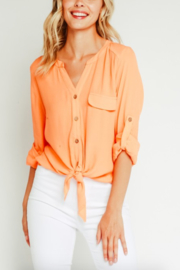 Olivaceous Stacy Button Blouse - Product Mini Image