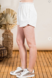 VeryJ Stacy Fray High Rise Shorts - Product Mini Image