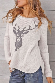 Wooden Ships Stag Crewneck Sweater - Product Mini Image