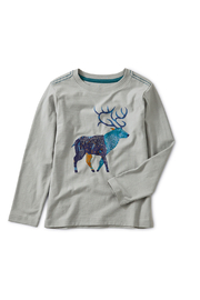 Tea Collection Stag Graphic Tee - Front cropped