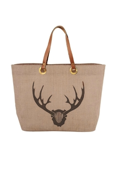 MUDPIE Stag Horn Tote - Product List Image